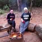 Sitting around the campfire on the Bibbulmun Track