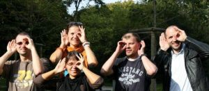Group photo of Italian Deafblind group